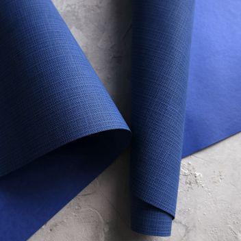 Кожзаменитель синий с тиснением под холст