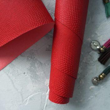 Красный (NEW) кожзаменитель Питон