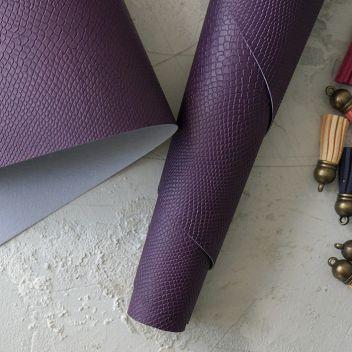 Тёмно-фиолетовый кожзаменитель Питон
