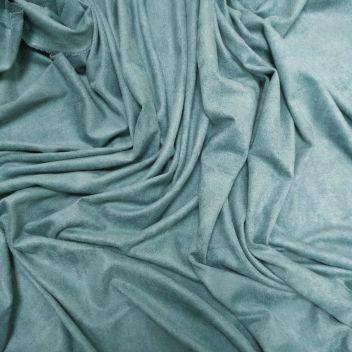 Замша двусторонняя тонкая Серо-голубая