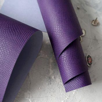 Фиолетовый кожзаменитель Питон