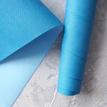 Голубой кожзаменитель Питон
