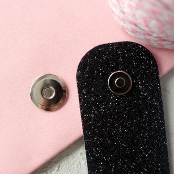 Магнитная застёжка плоская (серебро) 17мм с уменьшенной кнопкой
