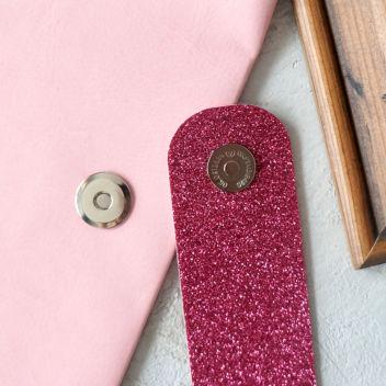 Магнитная застёжка плоская (серебро) 17мм со стандартной кнопкой