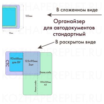 Вкладыш для автодокументов стандартный (АДС) Арт. P-19