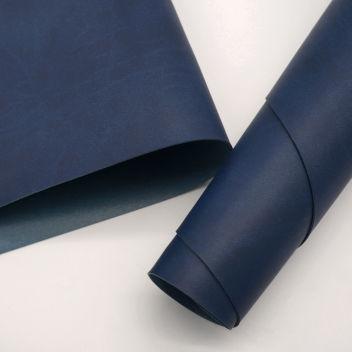 Тёмно-синий переплетный кожзаменитель