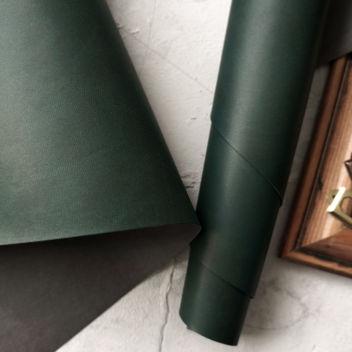 Тёмно-зеленый переплетный кожзаменитель