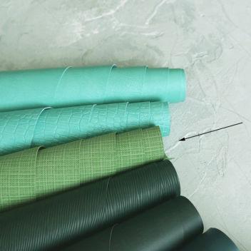 Кожзаменитель светло-зеленый с тиснением под холст
