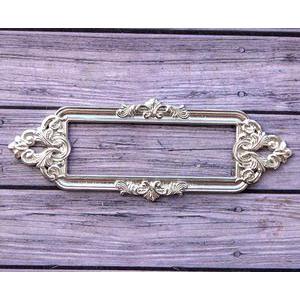 Металлическая рамка для записей Барокко, цвет Серебро