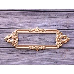 Металлическая рамка для записей Барокко, цвет Золото