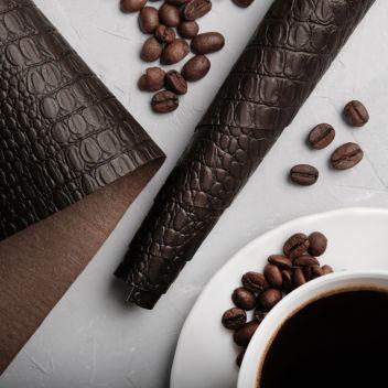 Кофейный кожзаменитель Крокодил