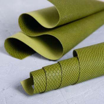 Елово-зелёный кожзаменитель Питон