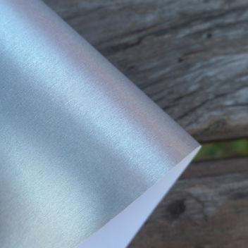 Бумага металлизированная с тиснением Шелк Серебро