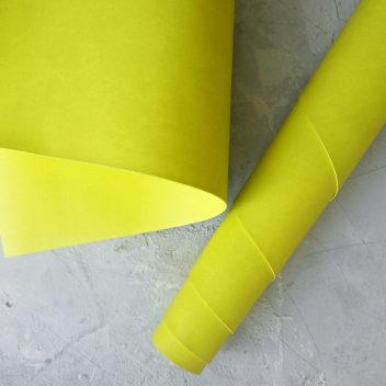Желто-зелёный переплетный кожзаменитель