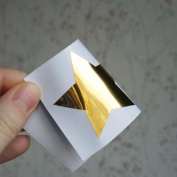 Виниловая плёнка зеркальная Золото жёлтое (Китай)