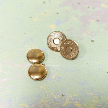 Магнитная застежка с шляпкой (золото) 14мм