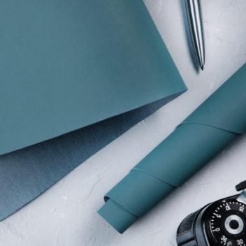 Ниагарский синий переплетный кожзаменитель