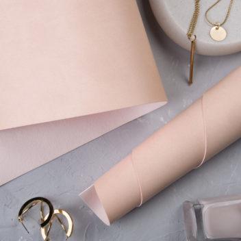 Розовато-персиковый переплетный кожзаменитель
