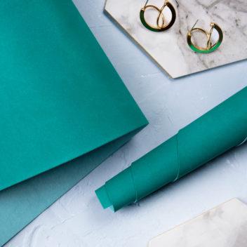 Зелёно-бирюзовый переплетный кожзаменитель