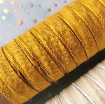 Каптал с глянцевой золотой кромкой 14мм