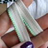 Каптал двуцветный с глянцевой мятно-белой кромкой 14мм