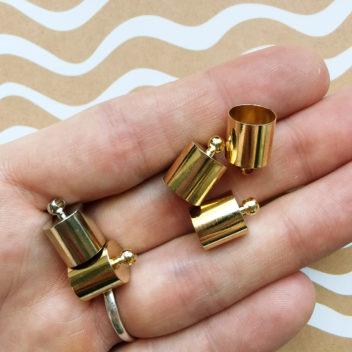 Колпачки для кисточек прямые Золото