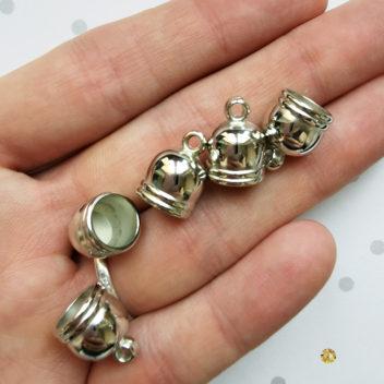 Колпачки для кисточек Фигурные Серебро