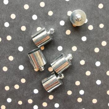 Колпачки для кисточек прямые Серебро